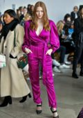Larsen Thompson attends the Jonathan Simkhai Fashion Show during NYFW 2020 in New York City
