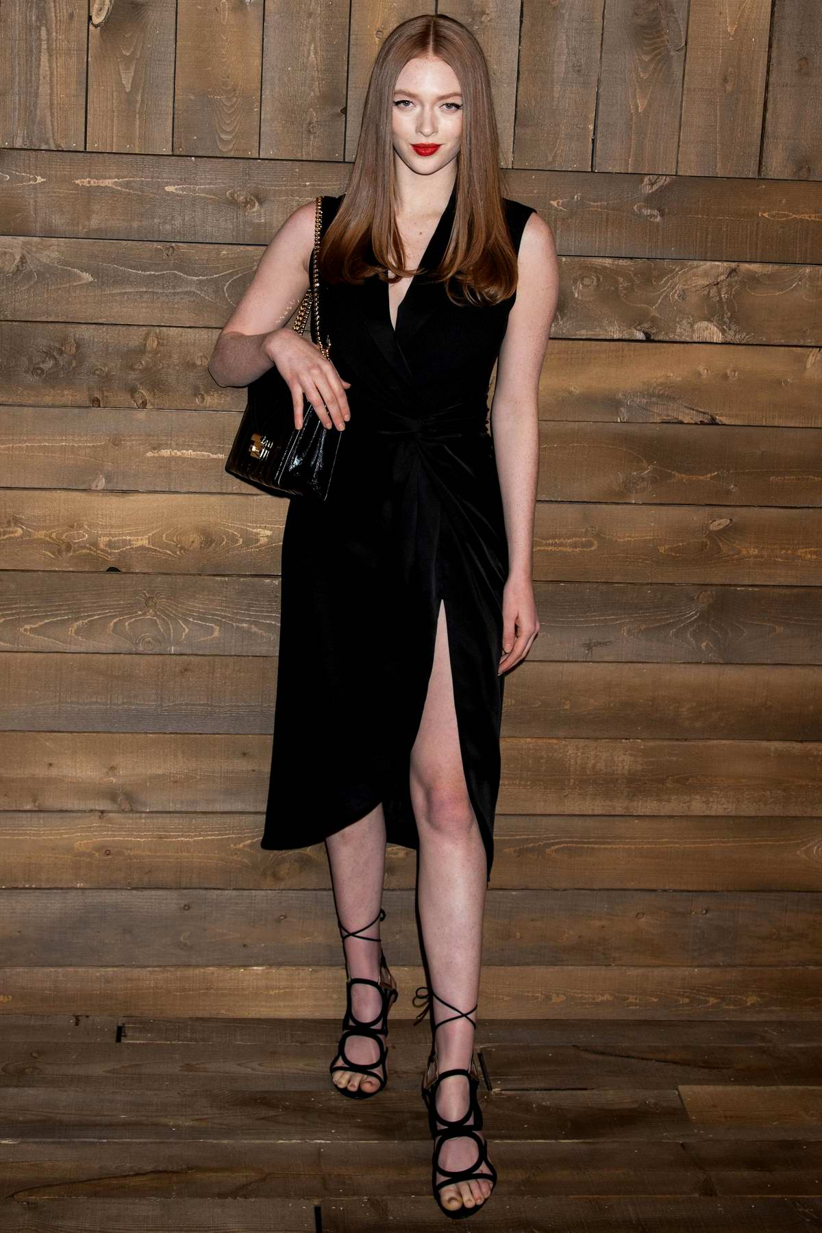 Larsen Thompson attends the Michael Kors show during NYFW 2020 in New York City
