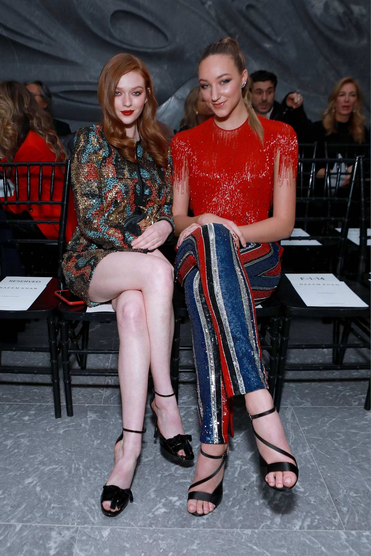 Larsen Thompson and Ava Michelle at the Naeem Khan fashion show during the NYFW 2020 in New York City