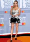 Laura Whitmore attends the BRIT Awards 2020 at The O2 Arena in London, UK