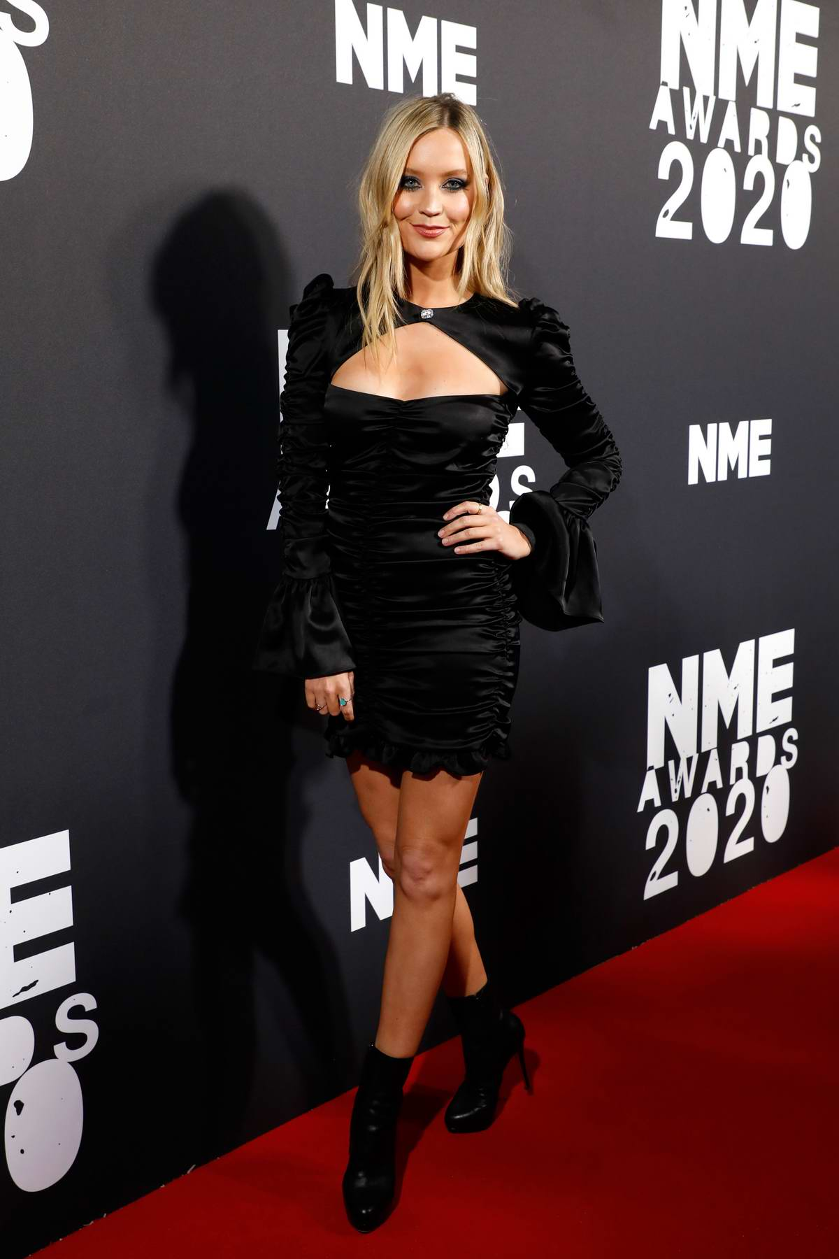Laura Whitmore attends the NME Awards 2020 at O2 Academy Brixton in London, UK