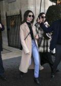 Lily Collins seen leaving her hotel during Paris Fashion Week 2020 in Paris, France