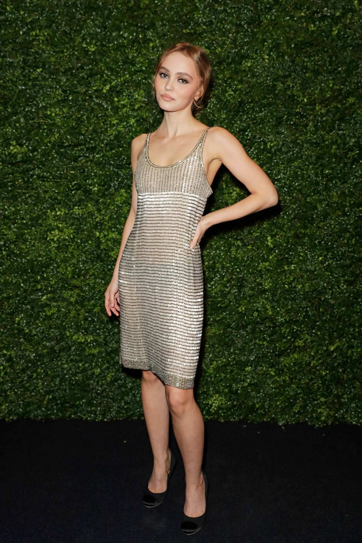 Lily-Rose Depp attends Charles Finch and Chanel Pre-BAFTA Party in London, UK