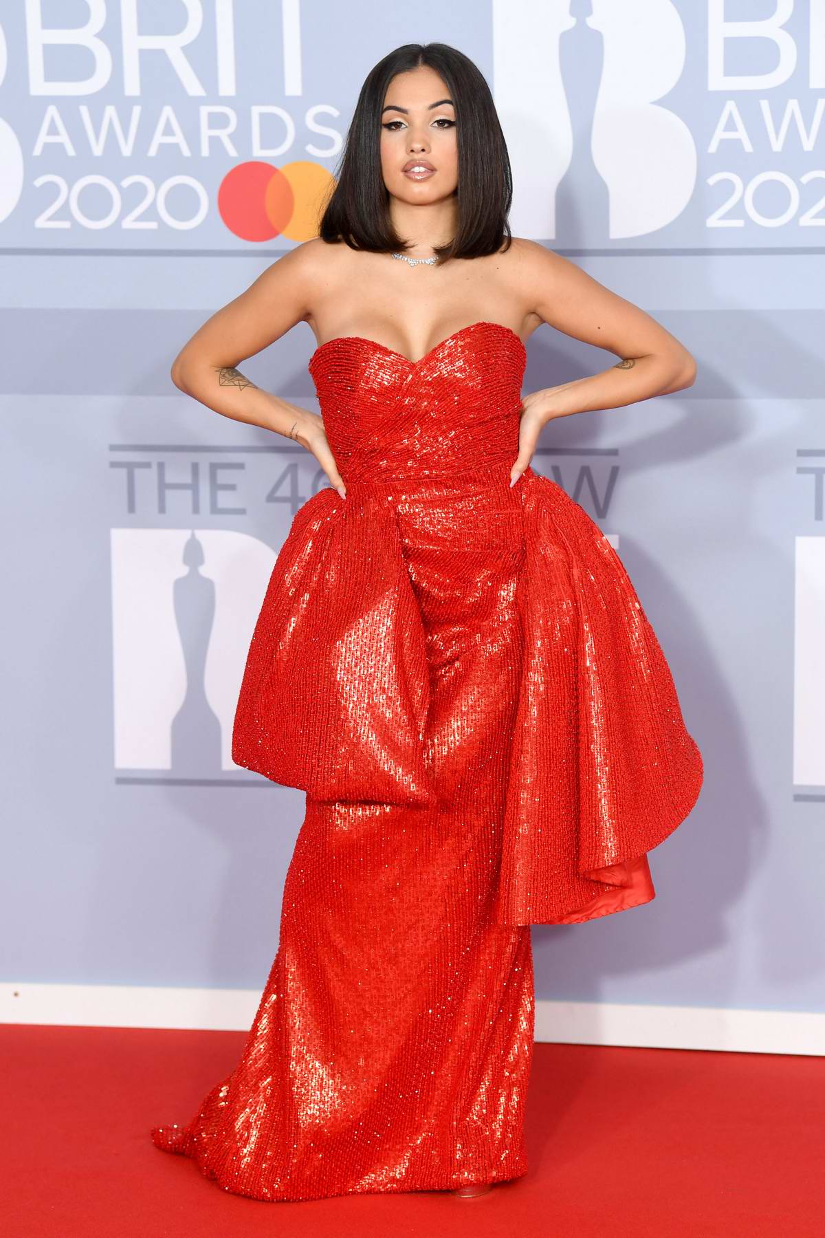 Mabel attends the BRIT Awards 2020 at The O2 Arena in London, UK