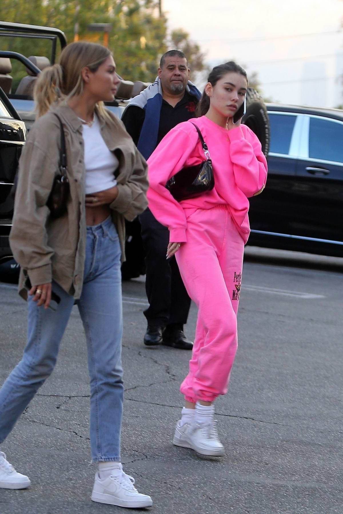 Madison Beer is pretty in pink for lunch at Chin Chin in West Hollywood, California