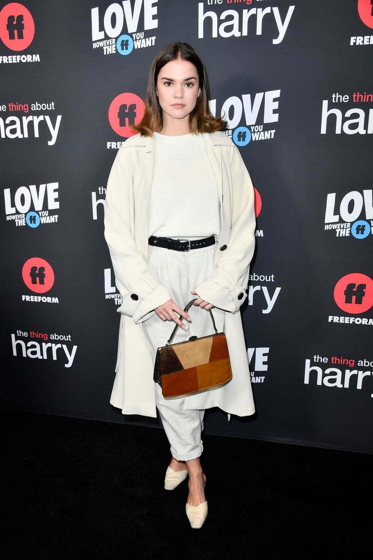 Maia Mitchell attends the Premiere of 'The Thing About Harry' in West Hollywood, California