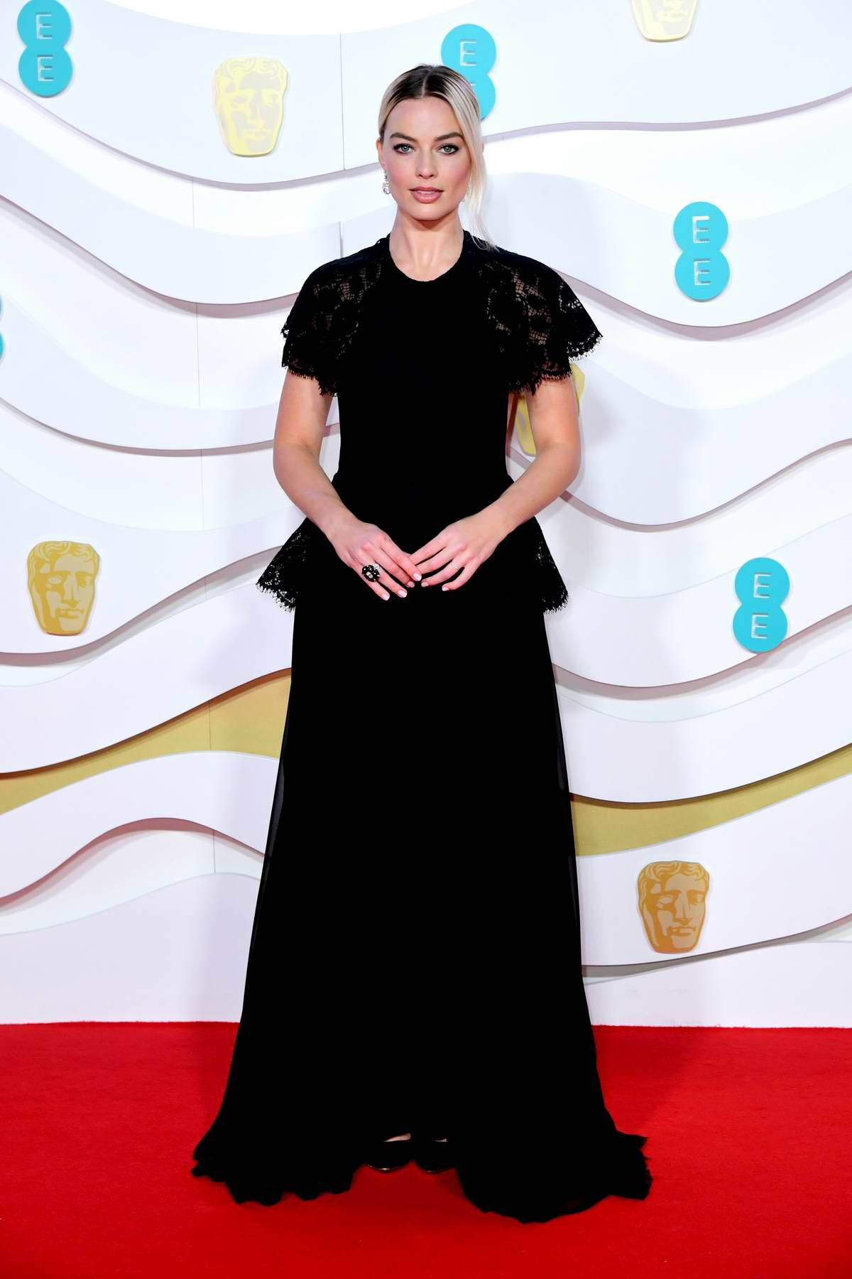 Margot Robbie attends the 73rd EE British Academy Film Awards at Royal Albert Hall in London, UK