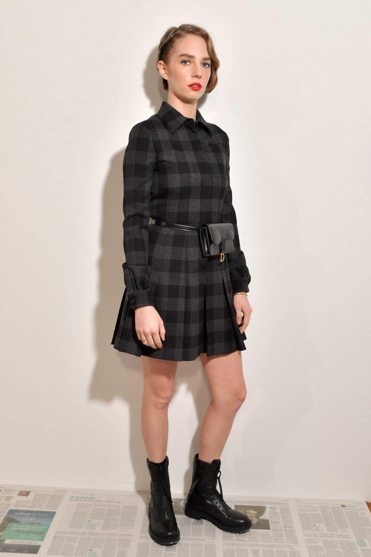 Maya Hawke attends the Dior show, F/W 2020 during Paris Fashion Week in Paris, France