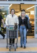 Miley Cyrus and Cody Simpson seen while shopping groceries at Erewhon market in Los Angeles