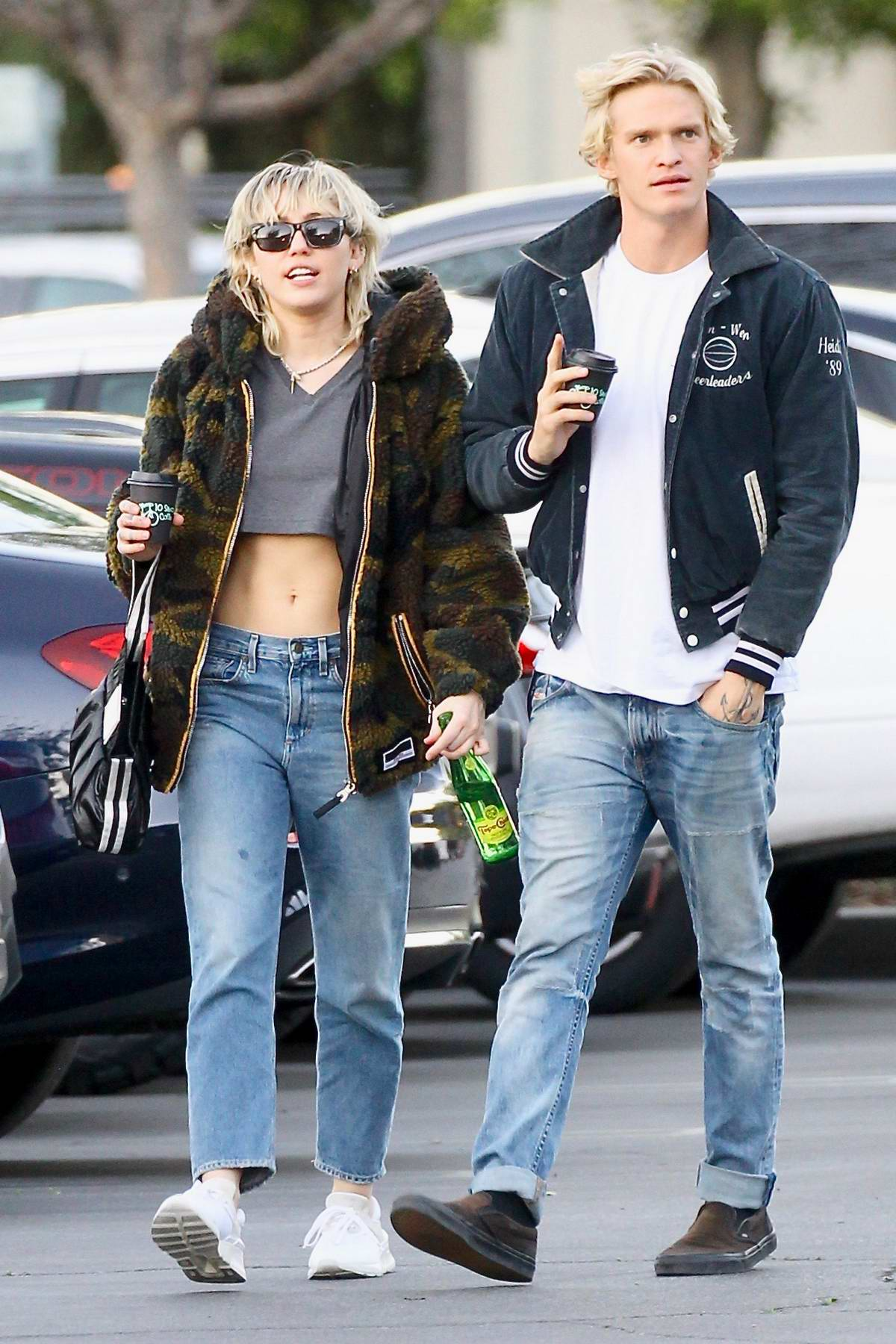 Miley Cyrus steps out with boyfriend Cody Simpson to pick up sushi in Toluca Lake, California