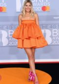 Mollie King attends the BRIT Awards 2020 at The O2 Arena in London, UK