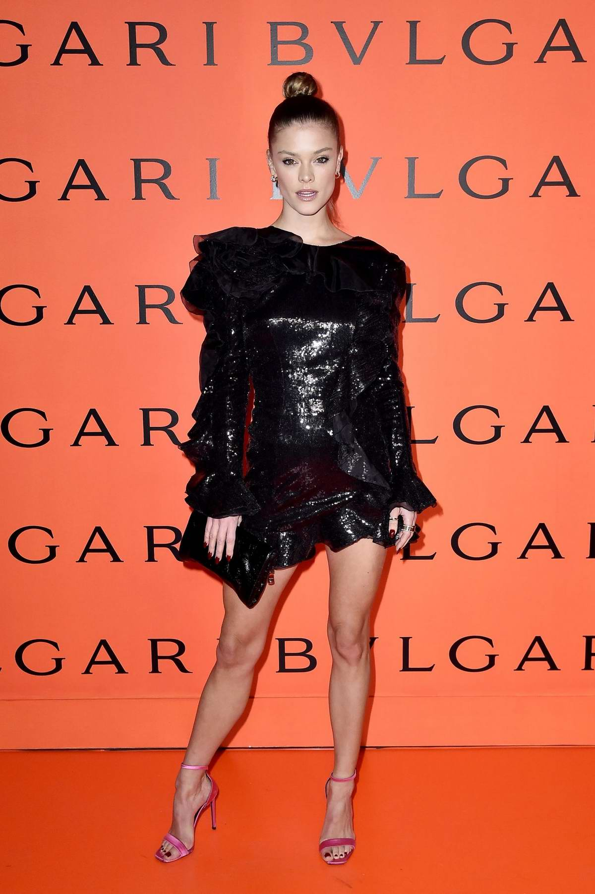 Nina Agdal attends as Bvlgari Celebrates B.zero1 Rock collection in Brooklyn, New York City
