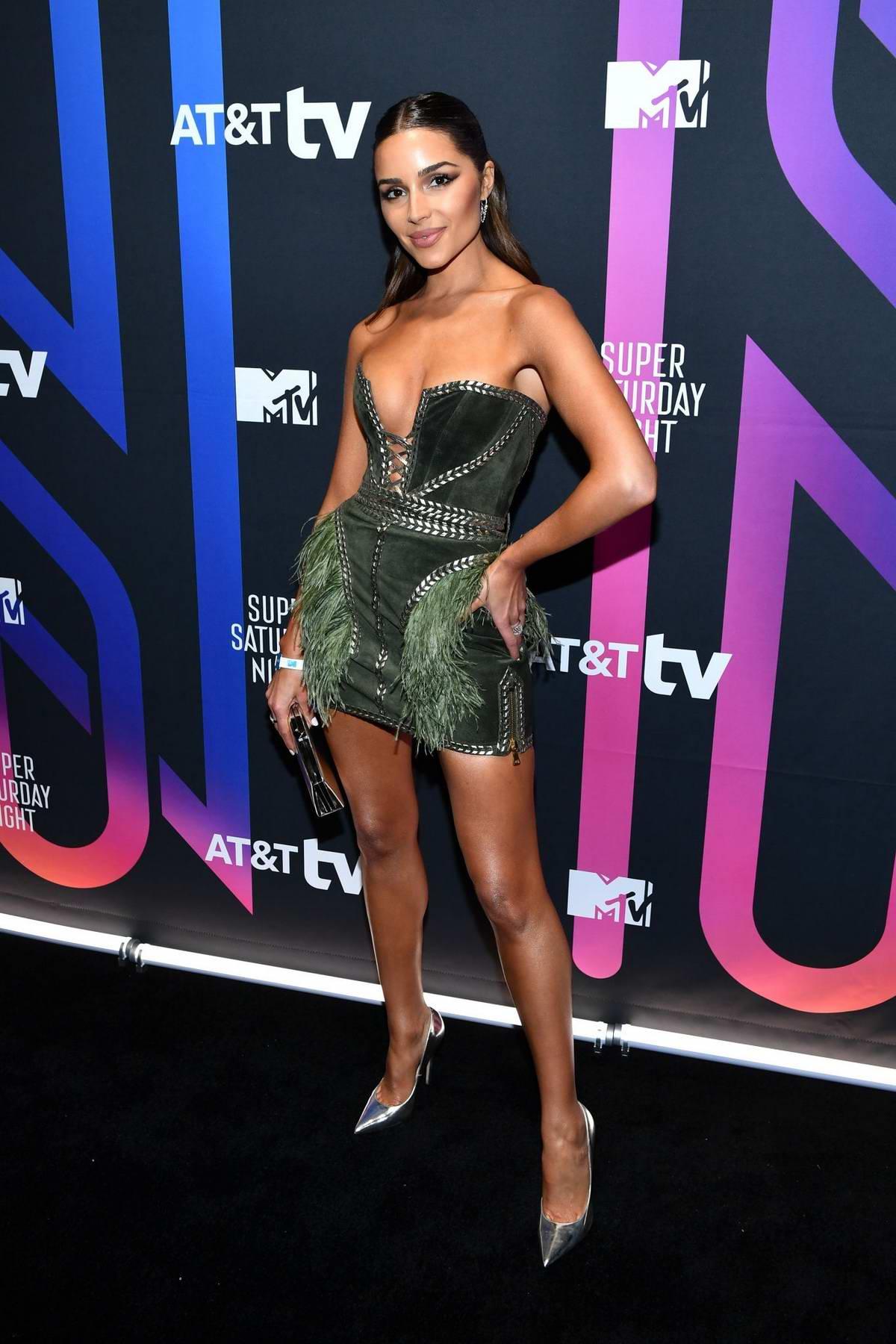 Olivia Culpo attends the AT&T TV Super Saturday Night in Miami, Florida