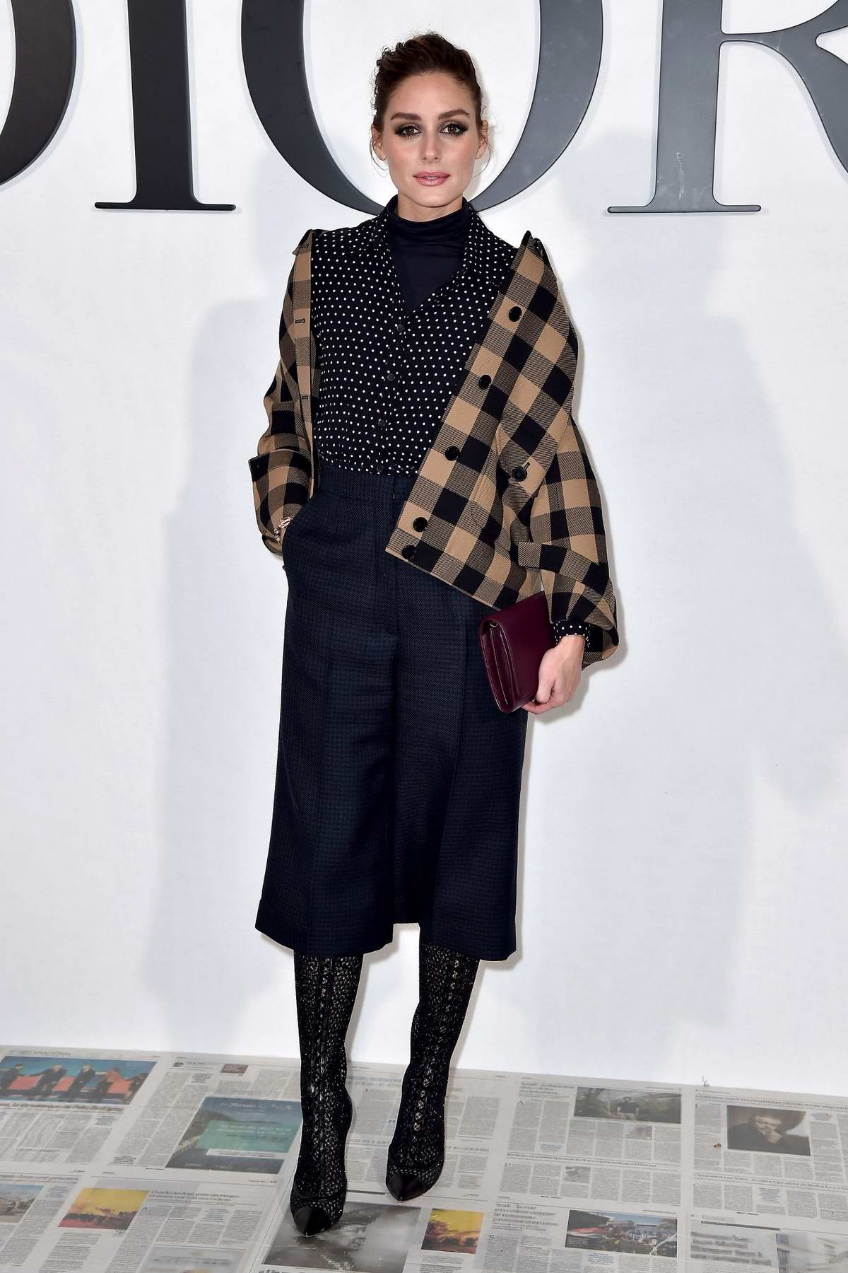 Olivia Palermo attends the Dior show, F/W 2020 during Paris Fashion Week in Paris, France