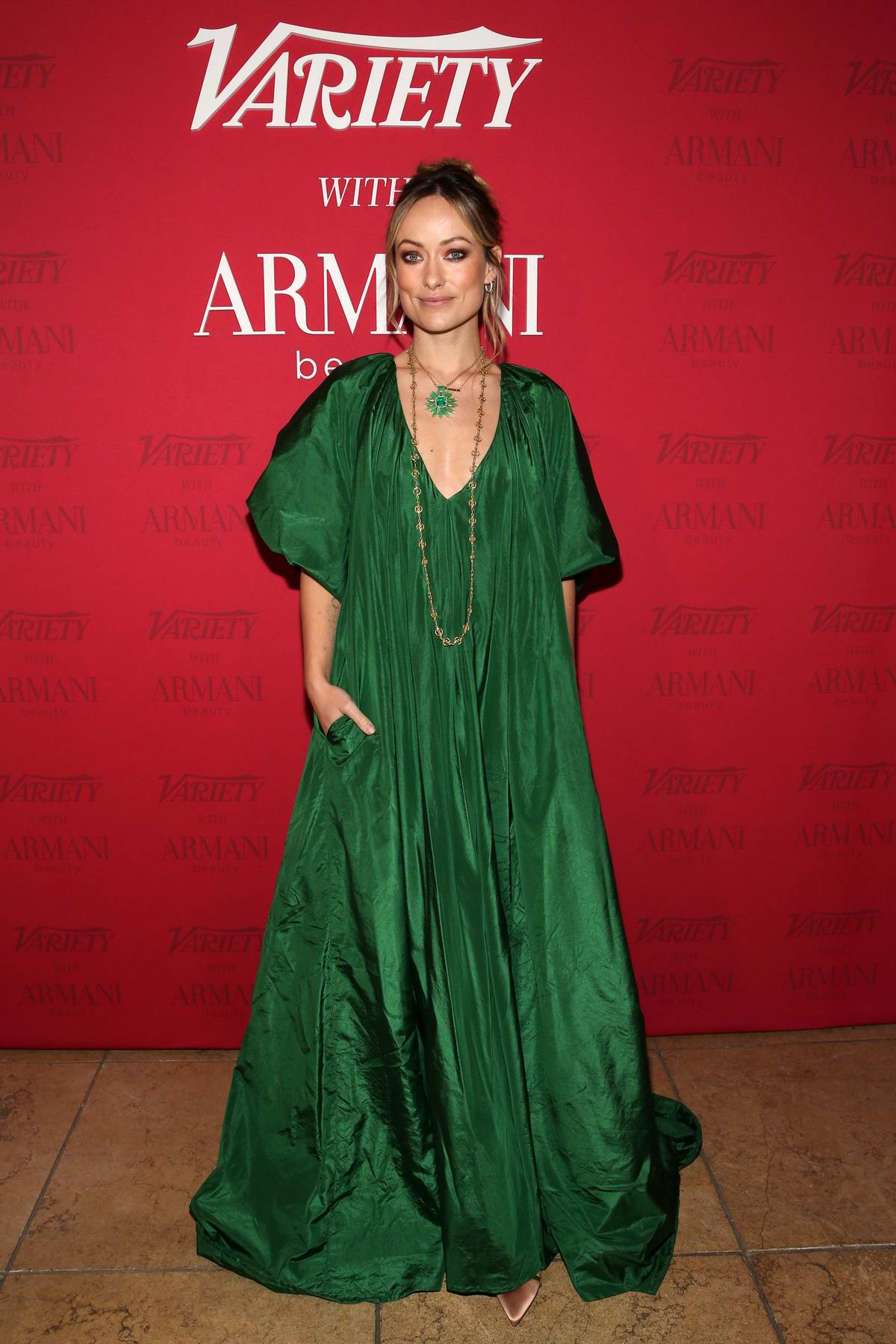 Olivia Wilde attends the Variety x Armani Makeup Artistry Dinner at Sunset Tower in Los Angeles