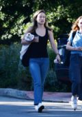 Olivia Wilde goes makeup free during a coffee run with a friend in Los Angeles