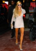 Paris Hilton sparkles as she leaves the Rolling Stone party in Miami, Florida