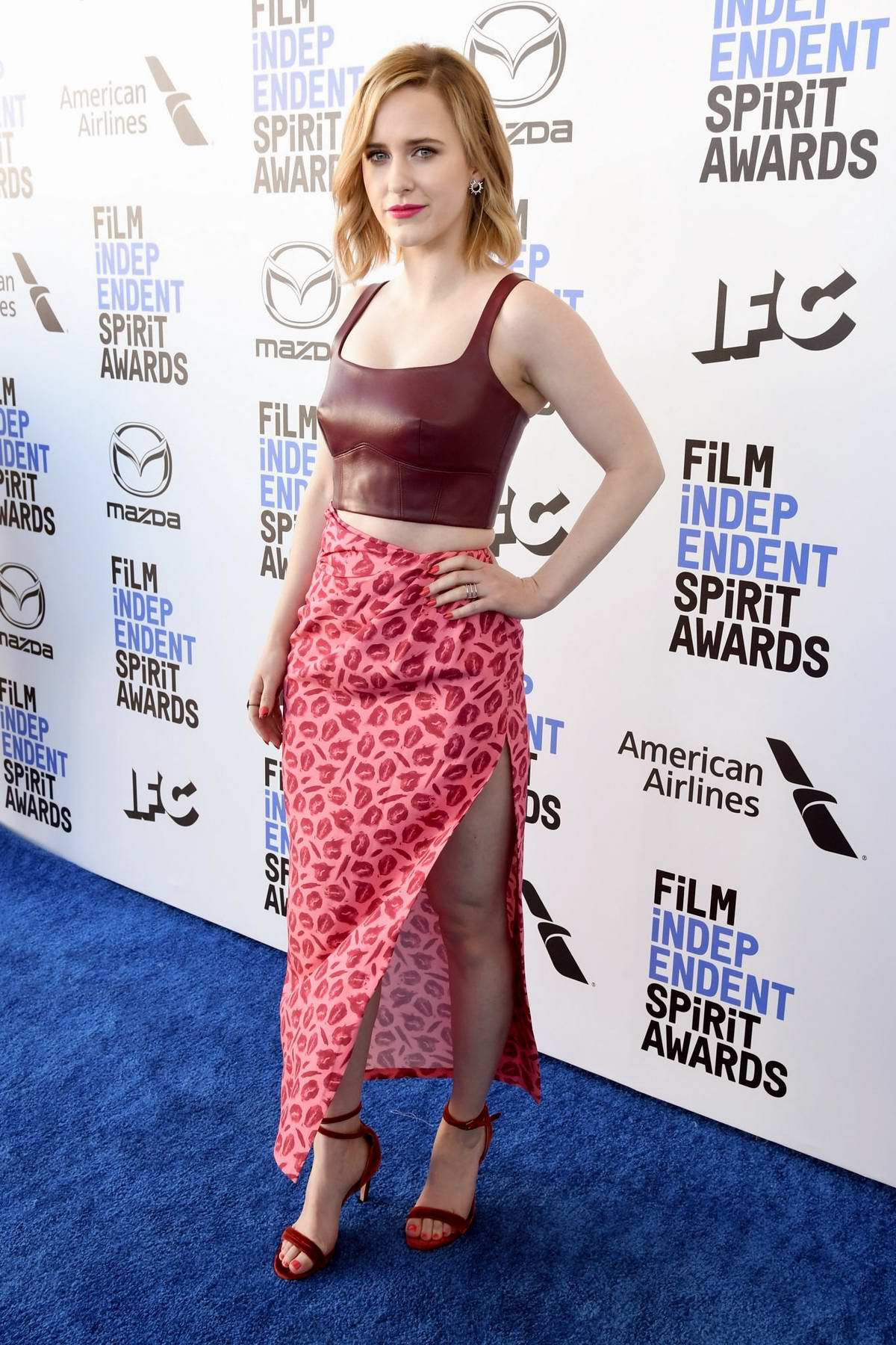 Rachel Brosnahan attends the 2020 Film Independent Spirit Awards at The Barker Hangar in Santa Monica, California