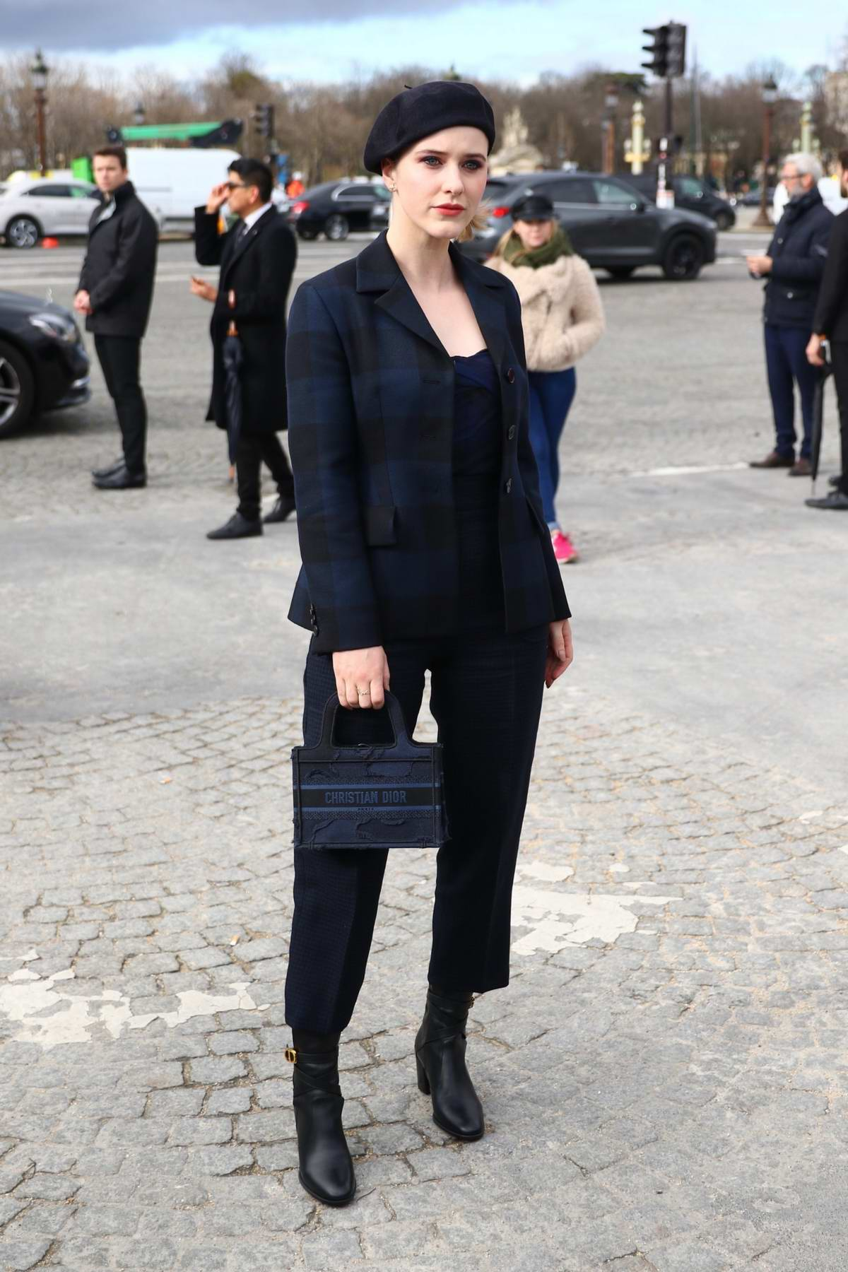 Rachel Brosnahan attends the Dior show, F/W 2020 during Paris Fashion Week in Paris, France