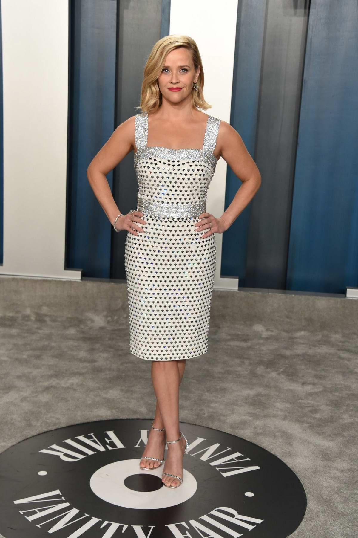 Reese Witherspoon attends the 2020 Vanity Fair Oscar Party at Wallis Annenberg Center for the Performing Arts in Los Angeles