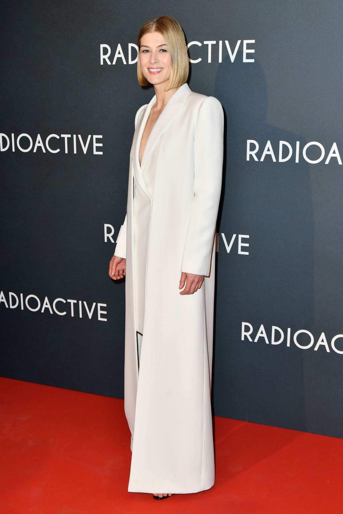 Rosamund Pike attends the Premiere of 'Radioactive' at UGC Danton in Paris, France
