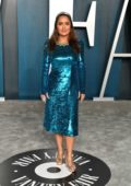 Salma Hayek attends the 2020 Vanity Fair Oscar Party at Wallis Annenberg Center for the Performing Arts in Los Angeles