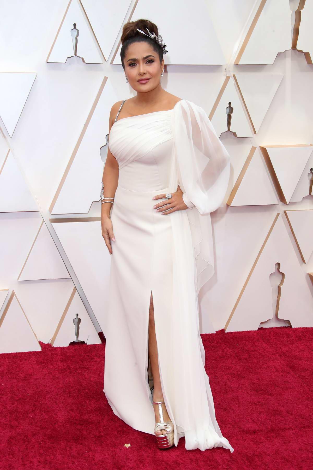 Salma Hayek attends the 92nd Annual Academy Awards at Dolby Theatre in Los Angeles
