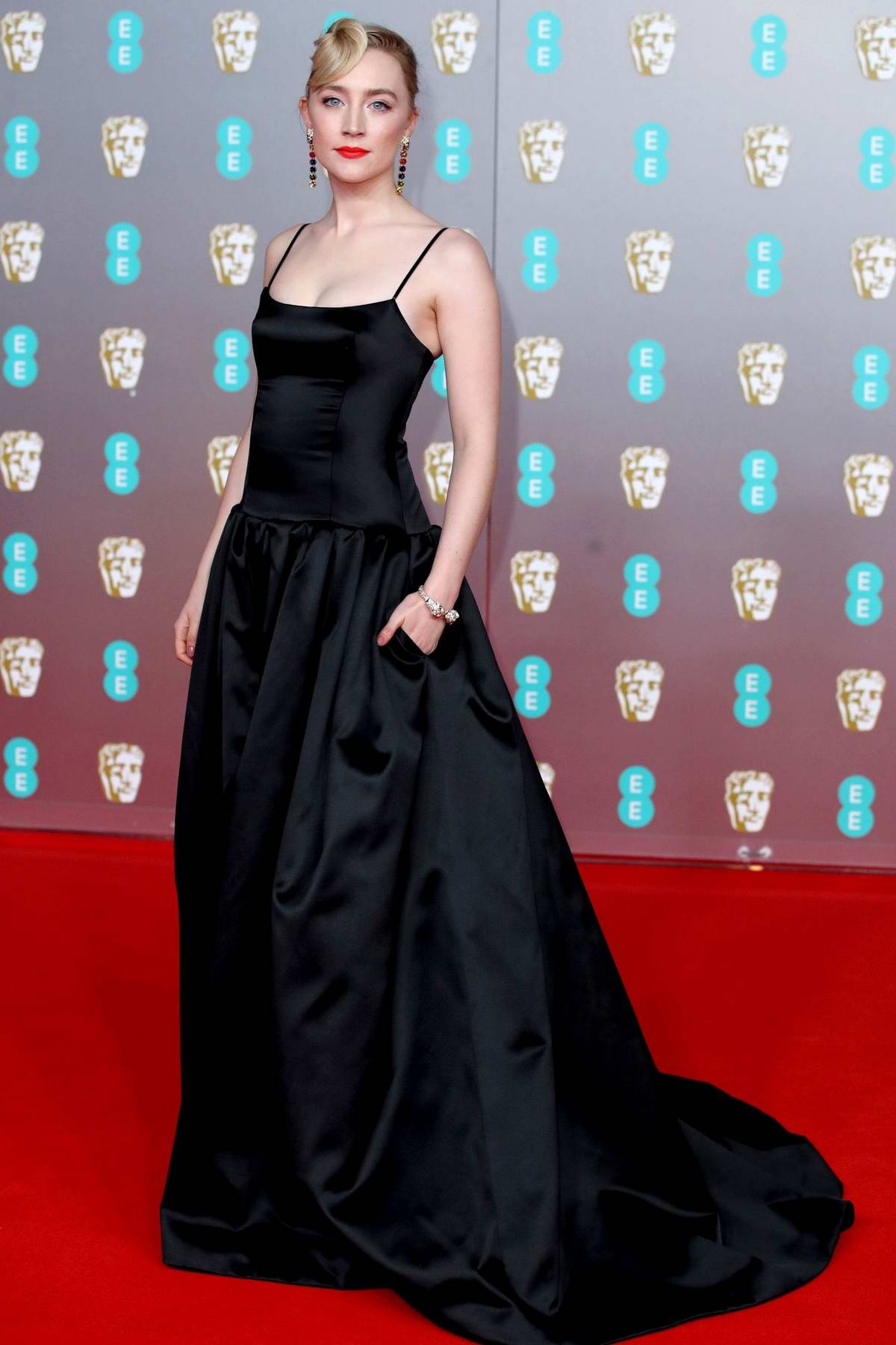 Saoirse Ronan attends the 73rd EE British Academy Film Awards at Royal Albert Hall in London, UK