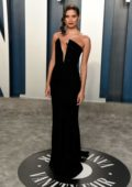 Sara Sampaio attends the 2020 Vanity Fair Oscar Party at Wallis Annenberg Center for the Performing Arts in Los Angeles