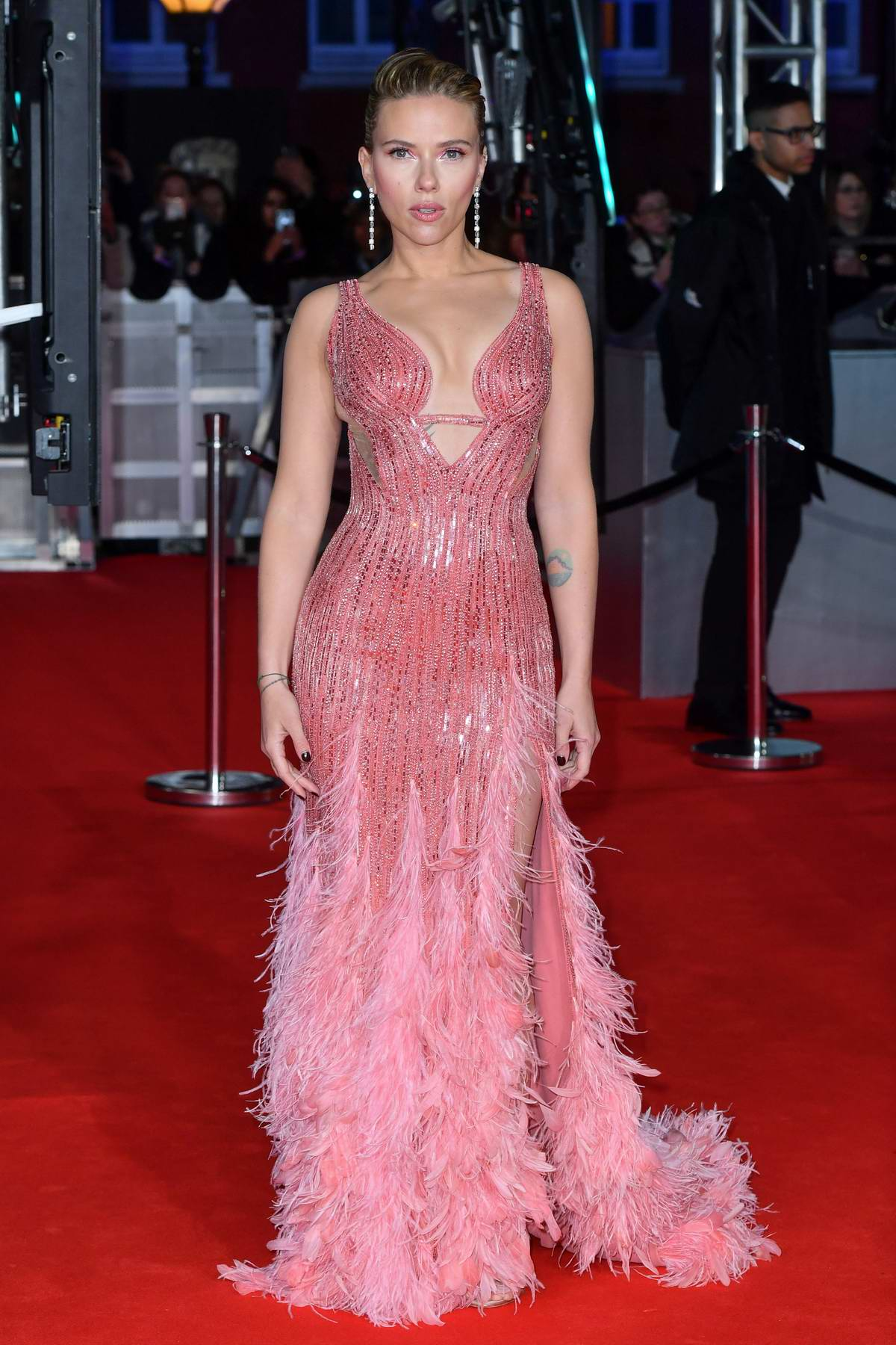 Scarlett Johansson attends the 73rd EE British Academy Film Awards at Royal Albert Hall in London, UK