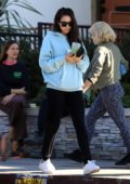 Shay Mitchell keeps it casual for a morning coffee run in Studio City, California