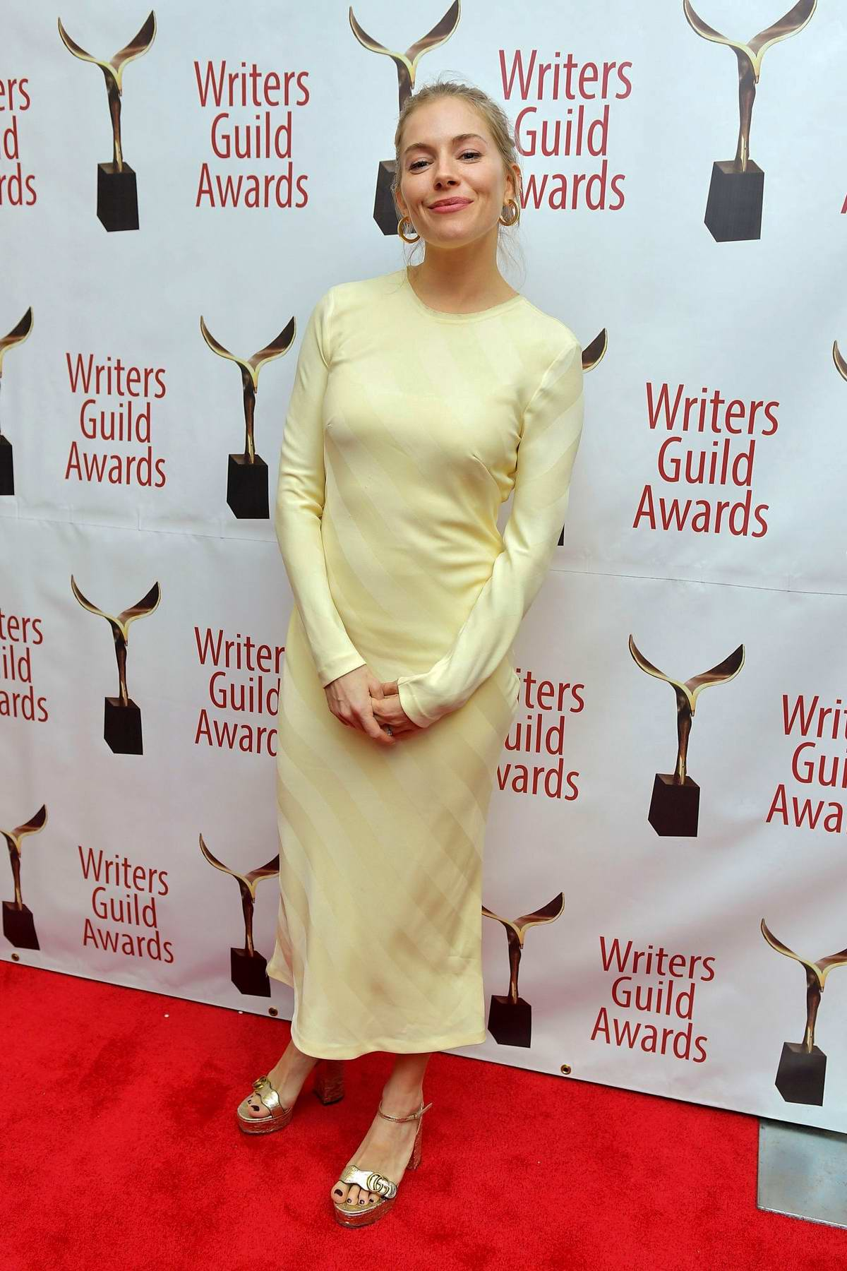 Sienna Miller attends the 72nd Annual Writers Guild Awards in New York City