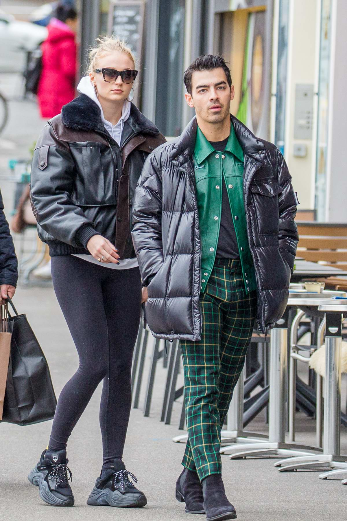 Sophie Turner and Joe Jonas spotted for the first time after announcing their pregnancy, Zurich, Switzerland