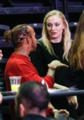Sophie Turner attends the Jonas Brothers Concert at the Accor Hotels Arena in Paris, France