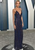 Stella Maxwell attends the 2020 Vanity Fair Oscar Party at Wallis Annenberg Center for the Performing Arts in Los Angeles