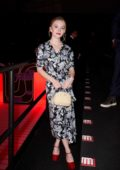 Sydney Sweeney attends the Prada fashion show F/W 2020 during Milan Fashion Week in Milan, Italy