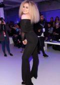Tallia Storm attends Pam Hogg fashion show during London Fashion Week in London, UK