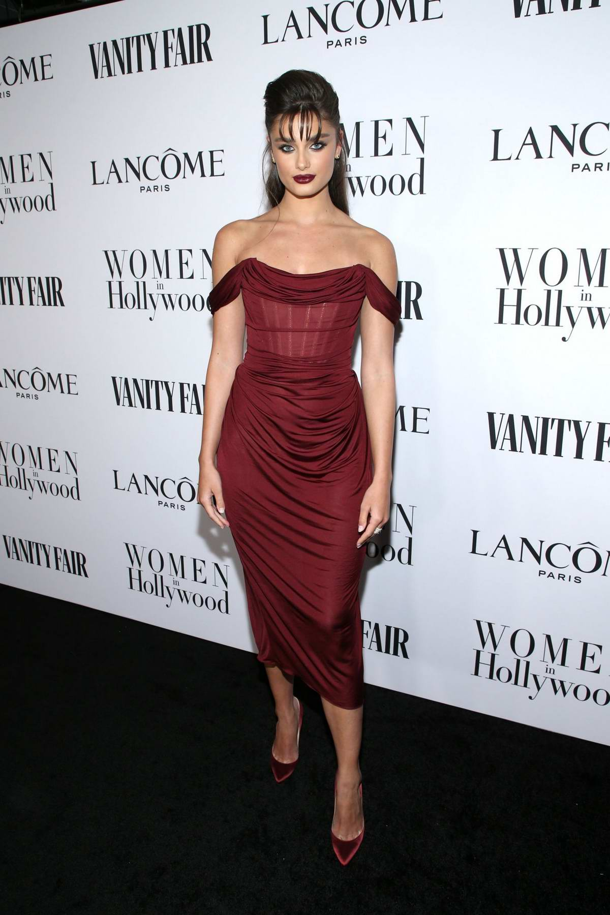 Taylor Hill attends the Vanity Fair and Lancome Women in Hollywood Celebration in West Hollywood, California