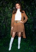 Victoria Justice attends the Alice + Olivia Fashion Show during NYFW 2020 in New York City