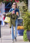Whitney Port dons double denim while shopping in Studio City, California