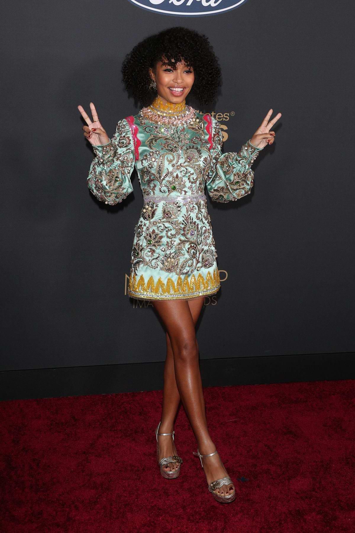 Yara Shahidi attends the 51st NAACP Image Awards at Pasadena Civic Auditorium in Pasadena, California