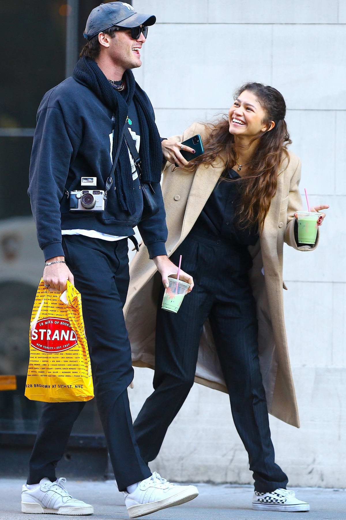 Zendaya and Jacob Elordi enjoy a fun day while out in Soho, New York City