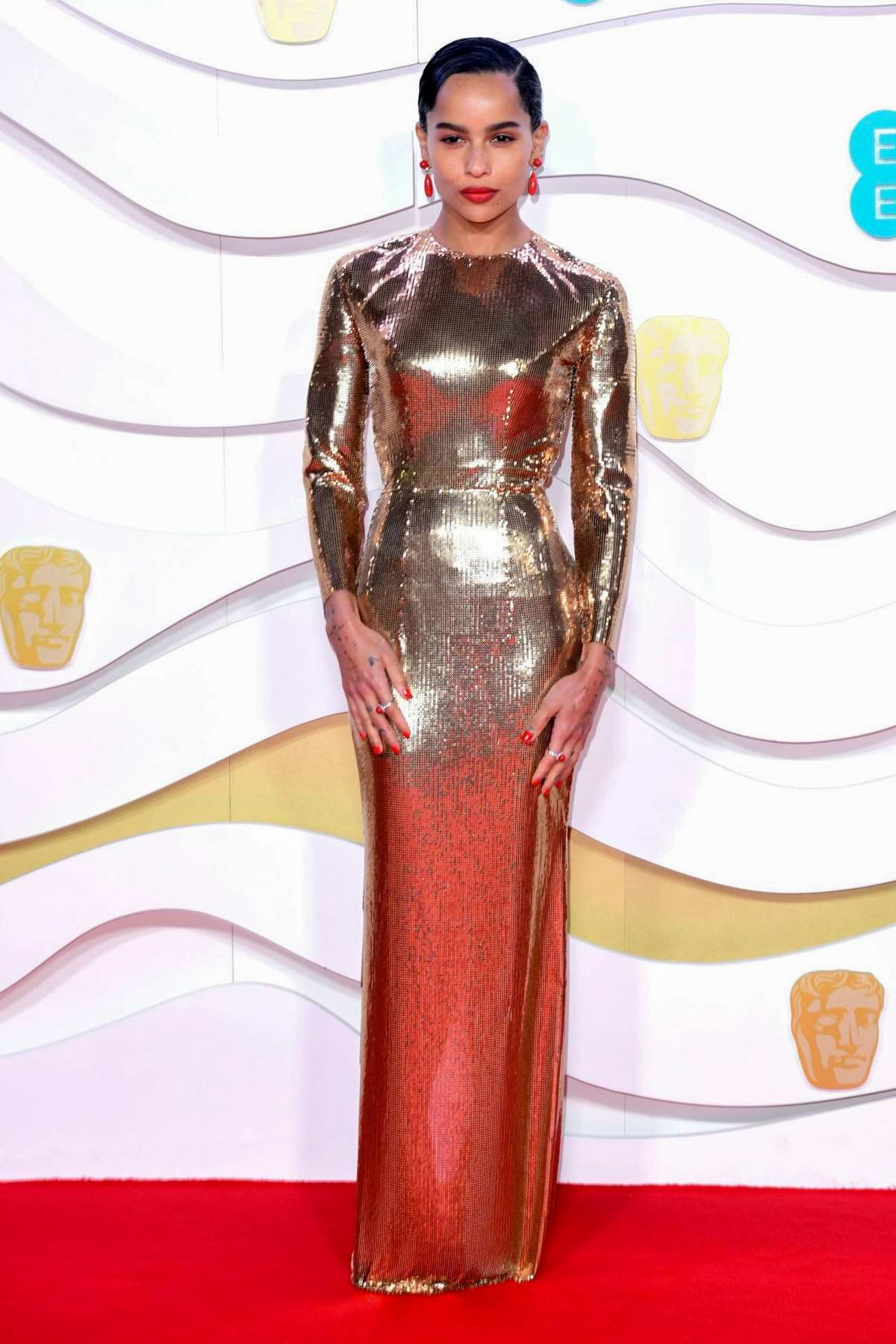 Zoe Kravitz attends the 73rd EE British Academy Film Awards at Royal Albert Hall in London, UK
