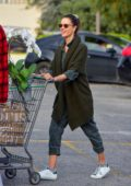 Alessandra Ambrosio stops to stock up on groceries at Bristol Farms in Santa Monica, California