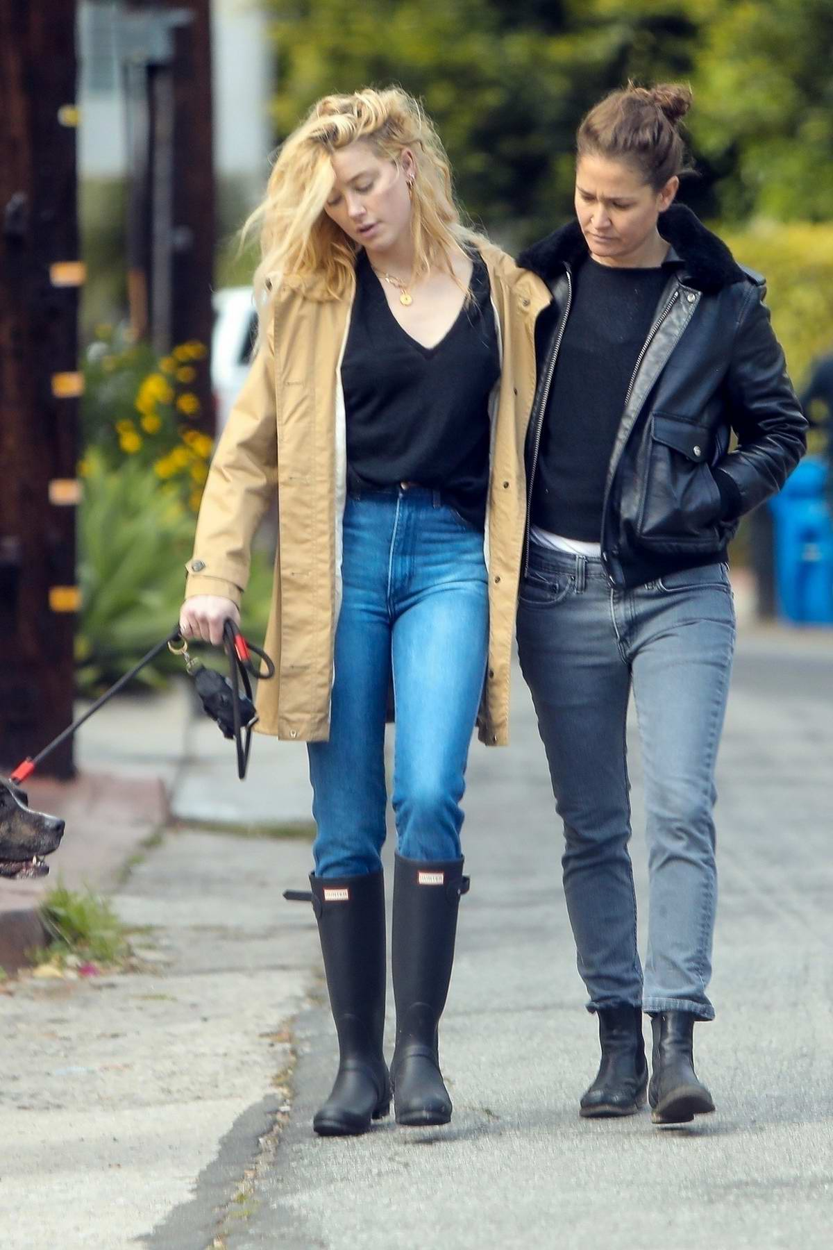 Amber Heard takes and girlfriend Bianca Butti step out for stroll amid 'Stay-at-Home' order in Los Angeles