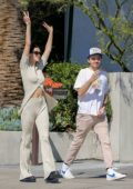 Amelia Hamlin is all smiles while heading to Cha Cha Matcha with boyfriend Mercer Wiederhorn in West Hollywood, California