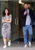 Ana de Armas is all smiles as she leaves an office building with Ben Affleck in Los Angeles