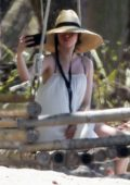 Ana de Armas spotted while taking selfies at the beach during her vacation in Costa Rica