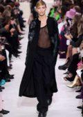 Anja Rubik walks the runway at Valentino show, F/W 2020 during Paris Fashion Week in Paris, France