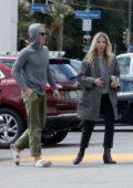 Annabelle Wallis and Chris Pine make a trip to their local market during quarantine in Los Feliz, California